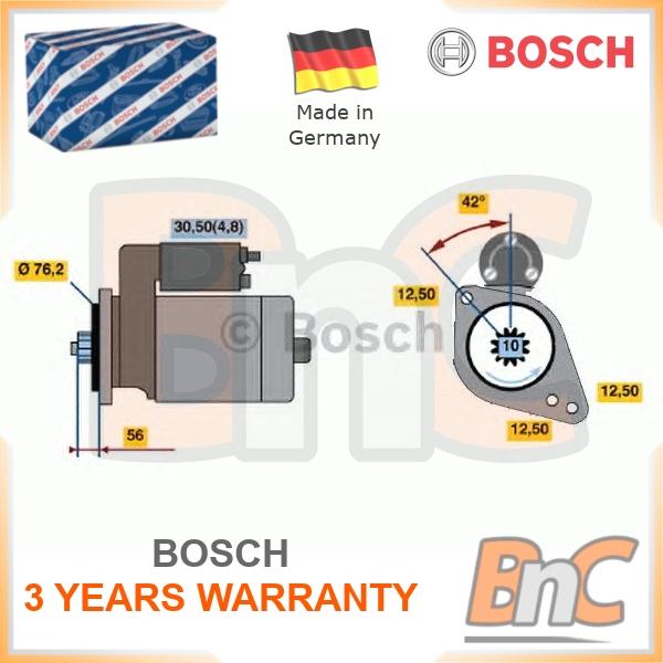 BOSCH 0 001 123 012 Starter für VW SKODA SEAT