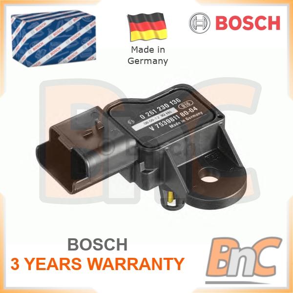 Peugeot 207 Wd 1.6 MAP Sensor 2007 sur 5FS EP6C Collecteur Pression Genuine Bosch