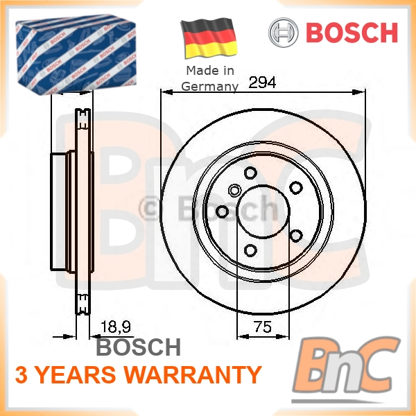 BMW Genuine Rear Brake Disc Set Ventilated E46 3 Series 34216864056