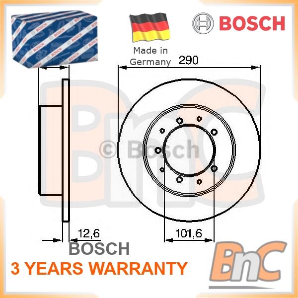 2x Brake Discs Solid 290mm BDC4726 Quinton Hazell Set FTC1381 571912 New Pair